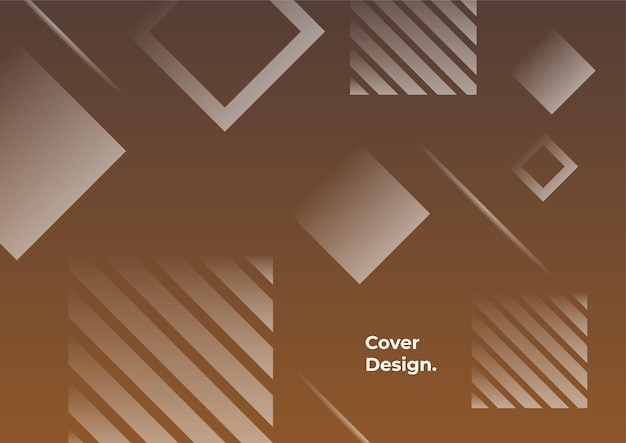 Earth tone color gradient geometric background. minimal abstract background with memphis element. dynamic shapes composition