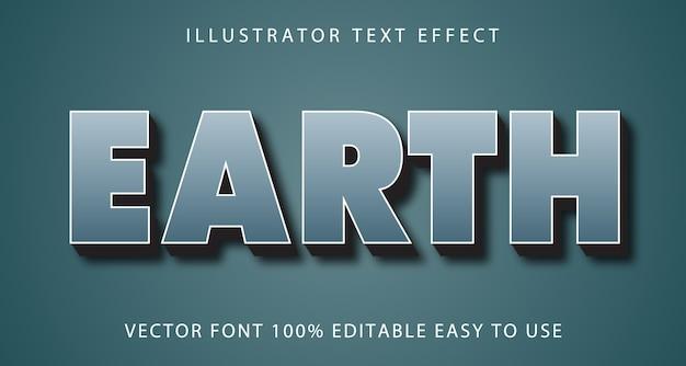 Earth vector editable text effect