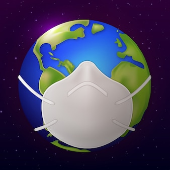 Земная маска для ношения covid 19