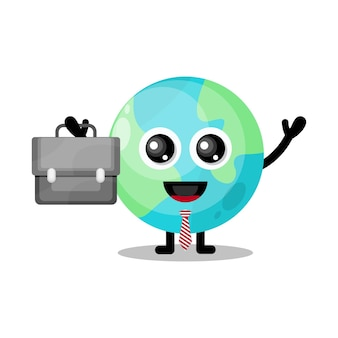 Earth works의 귀여운 캐릭터 마스코트
