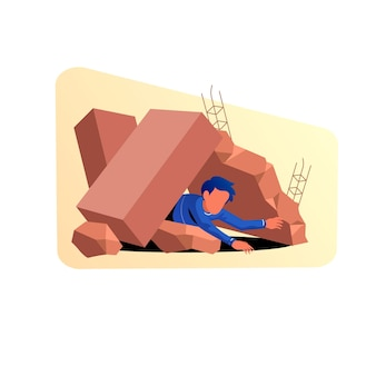 Иллюстрация смягчения последствий землетрясения