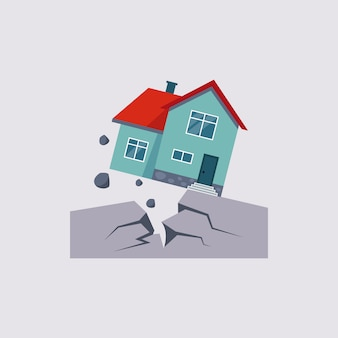 Earthquake insurance illustartion