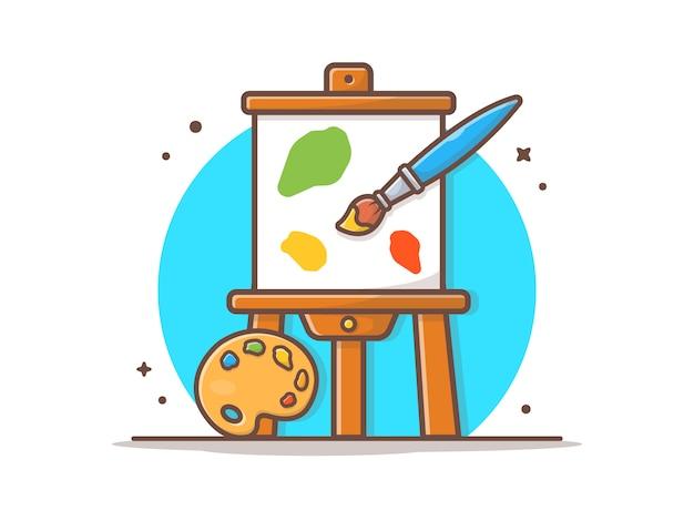 Easel art board vector  illustration