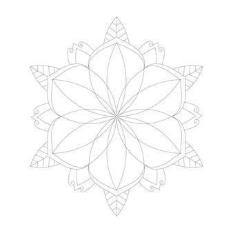 簡単に編集およびサイズ変更可能な着色曼荼羅の背景