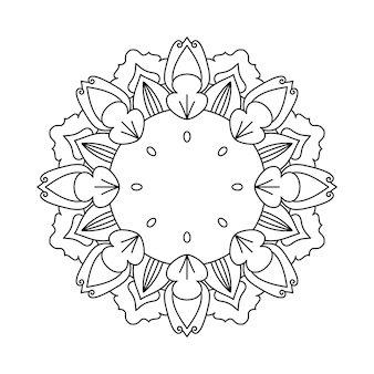 쉽게 편집하고 크기를 조정할 수 있는 꽃 만다라 배경