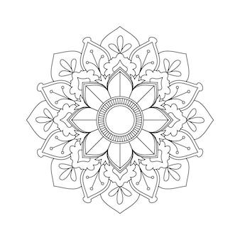 簡単に編集およびサイズ変更可能な花曼荼羅の背景