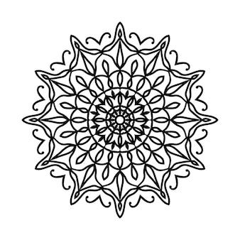 Легко редактируемый фон мандалы с изменяемым размером