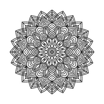 Easily editable and resizable coloring mandala background