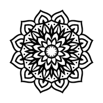 Easily editable and resizable mandala background