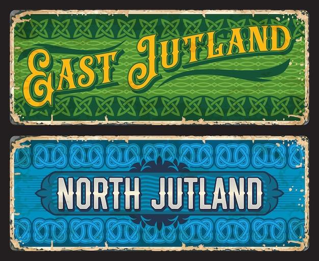 East and north jutland denmark grunge plates