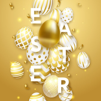 Easter background with eggs