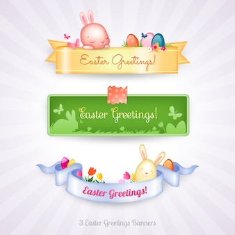Easter banners collection