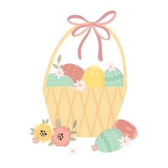Пасхальная корзинка с яйцами