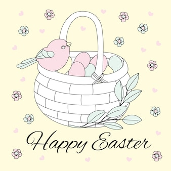 Easter bird great religious holiday vector illustration set