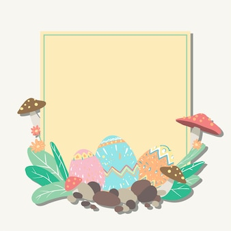 Easter border illustration