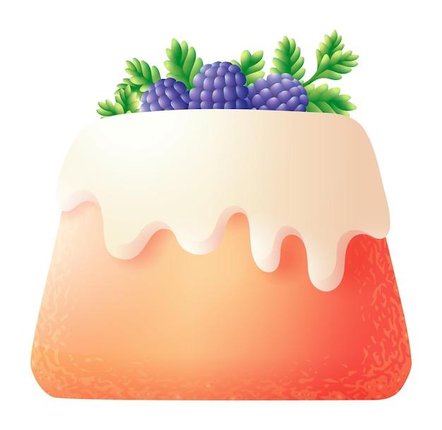 イースターパンまたはラムババの小さなケーキ。白い背景で隔離クリーチのお祝いクッキー