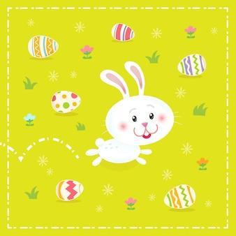 Пасхальный кролик с доставкой пасхальных яиц