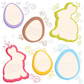 Easter bunny and eggs discount sale stickers
