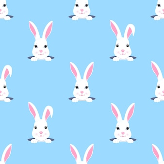 Easter bunny looks out of the hole. rabbit child seamless pattern. can be used for the decoration of the nursery, children s clothing, kids accessories, gift wrapping, digital paper.