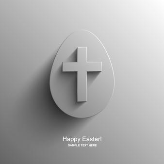 기독교 십자가, 부활절 배경 이미지와 달걀 모양의 부활절 카드