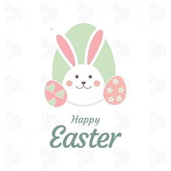 Carta di pasqua con cute bunny