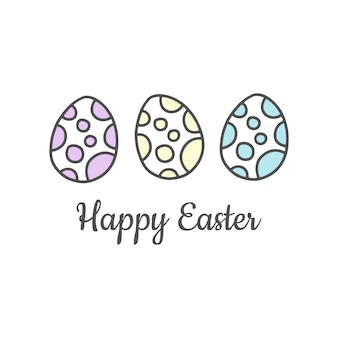 Easter card with eggs, vector illustration