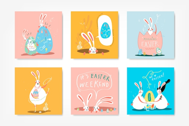 Easter celebration illustration collection