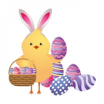 Easter chicken cartoon