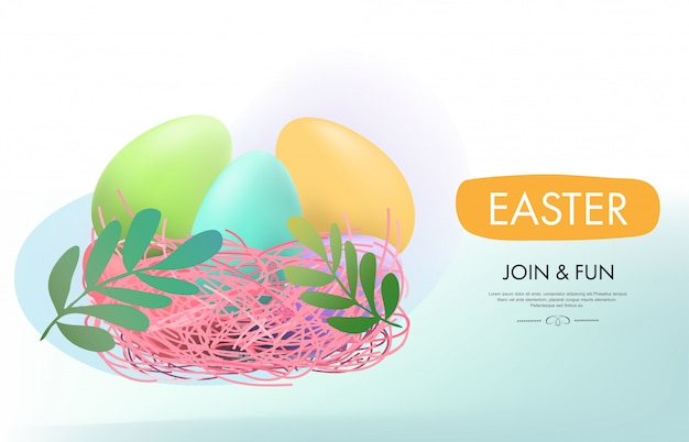 Easter day background web landing page onboarding.