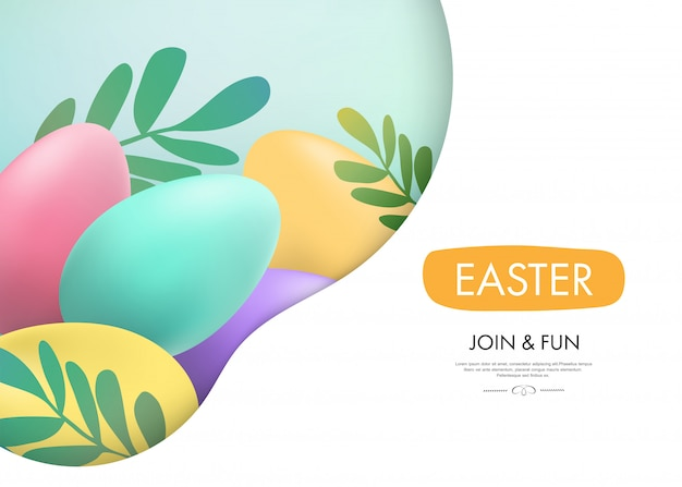 Easter day background web landing page.