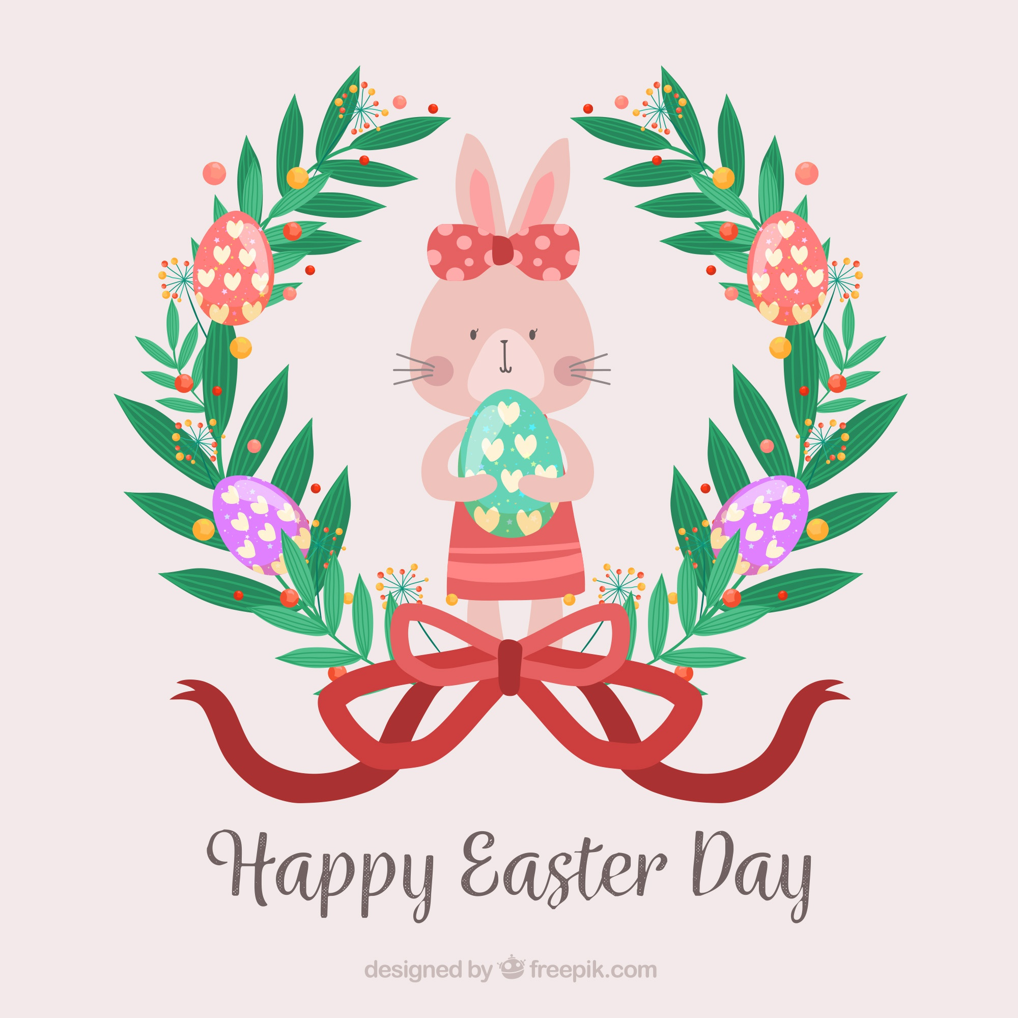 Easter day background with cute bunny