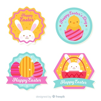 Easter day badge collection