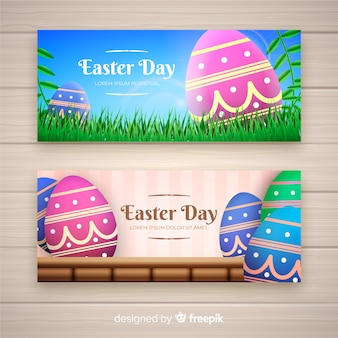 Easter day banner collection