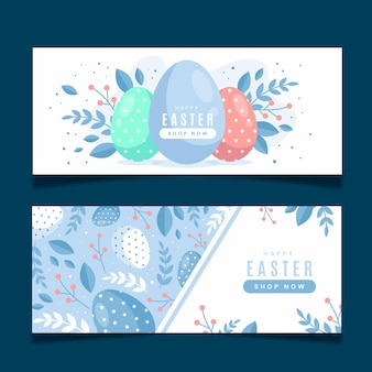 Easter day banner template