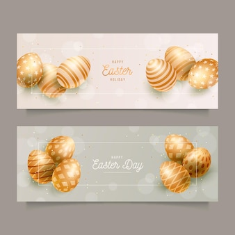 Easter day banners template