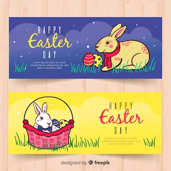 Easter day banners