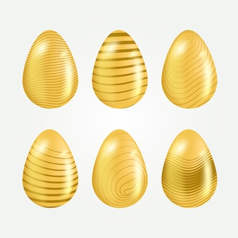 Easter day golden egg collection