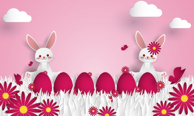 Easter day greeting background.