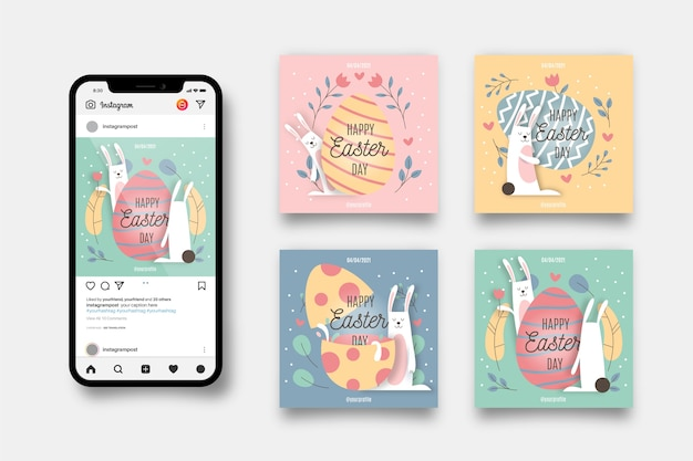 Easter day insta post pack