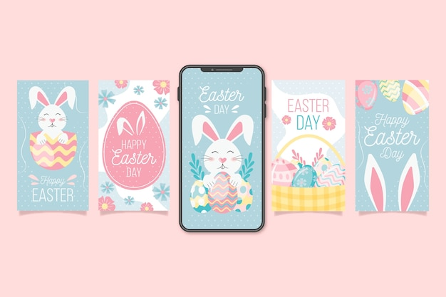 Easter day instagram post collection design