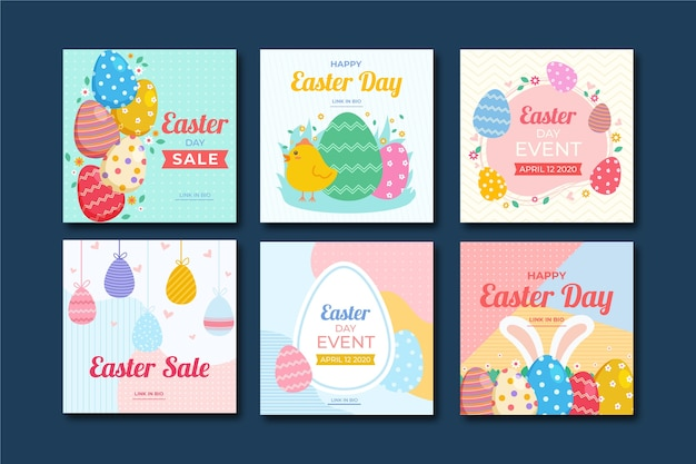 Easter day instagram post collection theme