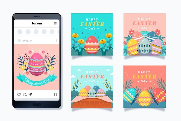 Easter day instagram post set