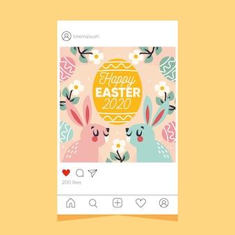 Easter day instagram post