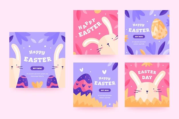 Easter day instagram posts collection