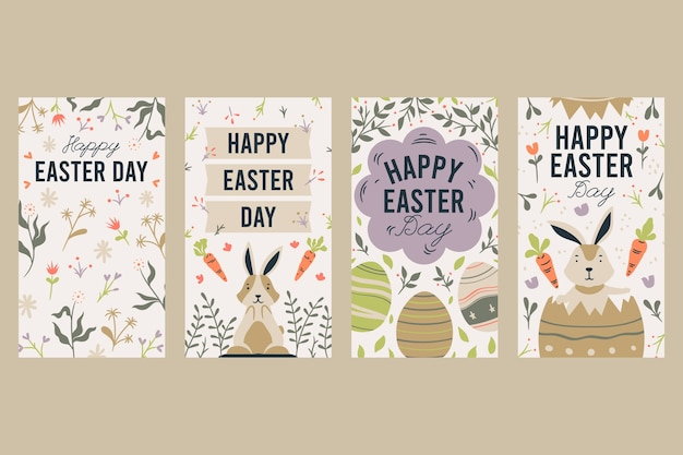 Easter day instagram stories collection theme