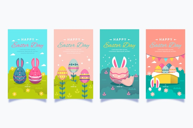 Easter day instagram stories collection