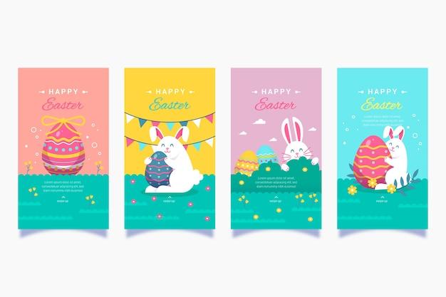Easter day instagram stories set