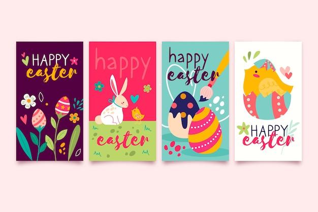 Easter day instragram stories set