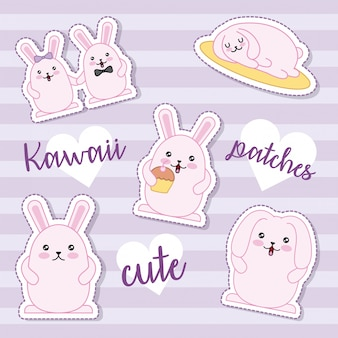 Easter day kawaii sticker collection