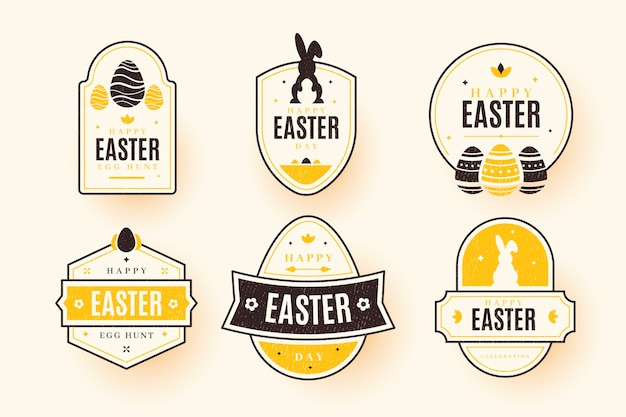 Easter day label / badge collection